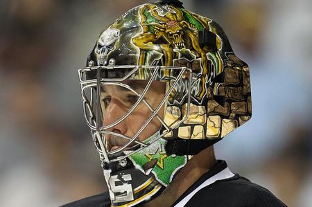 Hockey in art: Jim: Marty Turco in Dallas  |Marty Turco Mask