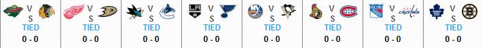 2013 NHL Playoff Matchups