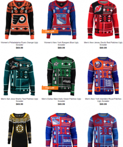 NHL Christmas Sweaters