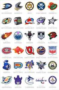 NHL Transformer Logos