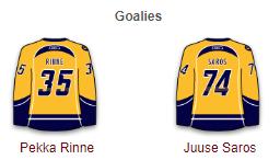Nashville Predators Goalies 2017-18