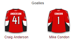 Ottawa Senators Goalies 2017-18
