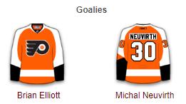 Philadelphia Flyers Goalies 2017-18