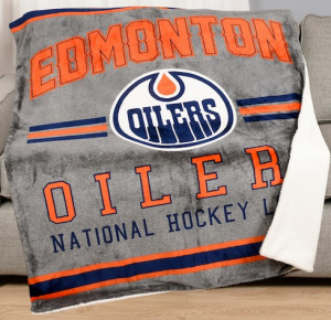 NHL Throw Blanket: Edmonton Oilers