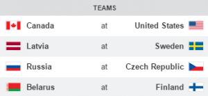 2016 IIHF Opening Day Games