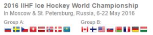 2016 IIHF Hockey Groupings