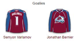 Colorado Avalanche Goalies 2017-18