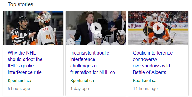 Goalie Interference Controversy